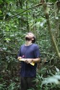 Evan in the field
