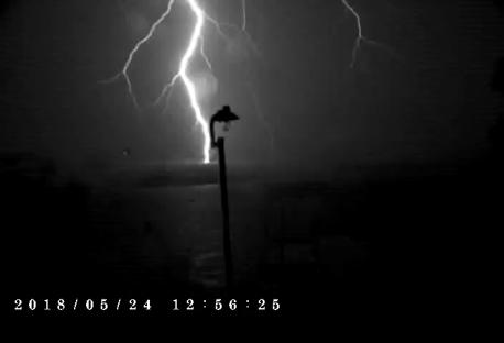 Powerful lightning